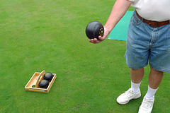 Lawn bowls by Ruth Hartnup on Flickr