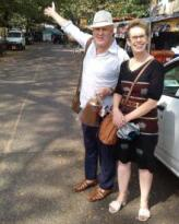 Ross and Tracey in Myanmar 220x275 75pc