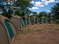 Tents at Ngiri Campsite by William Warby on Flickr