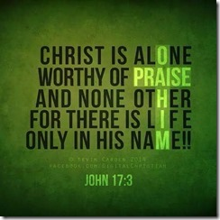 christ is alone