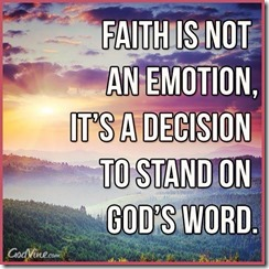 faith is a decision